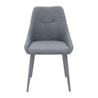 เก้าอี้ทานอาหาร เก้าอี้ไม้เบาะผ้า รุ่น Lepang สีสีเทา-SB Design Square