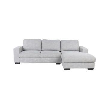 โซฟาผ้า โซฟาเข้ามุมขวา รุ่น Liden สีสีเทา-SB Design Square