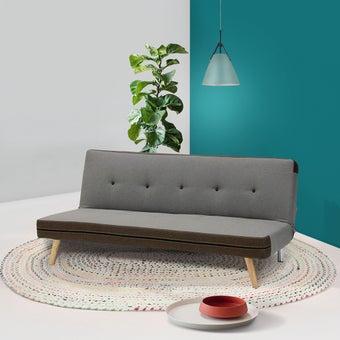 โซฟาผ้า โซฟาเบด รุ่น Minly สีสีน้ำตาล-SB Design Square