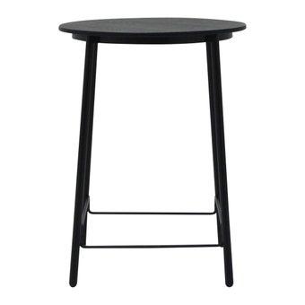 โต๊ะทานอาหาร โต๊ะบาร์ขาเหล็กท๊อปไม้ สีสีดำ-SB Design Square