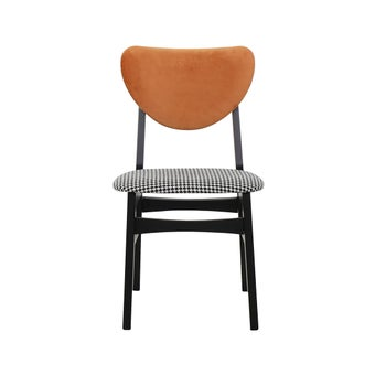 เก้าอี้ทานอาหาร เก้าอี้ไม้เบาะผ้า รุ่น Inter สีสีส้ม-SB Design Square