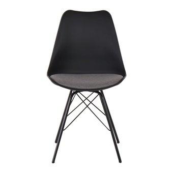เก้าอี้ทานอาหาร เก้าอี้เหล็กเบาะผ้า รุ่น Ashira สีสีเทา-SB Design Square