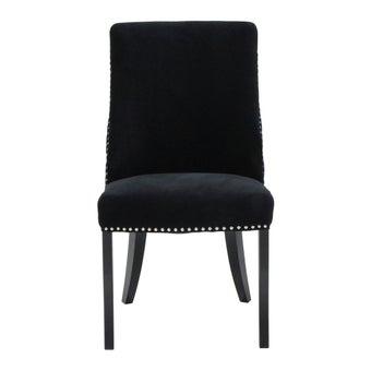 เก้าอี้ทานอาหาร เก้าอี้ไม้เบาะผ้า รุ่น Blitz สีสีดำ-SB Design Square