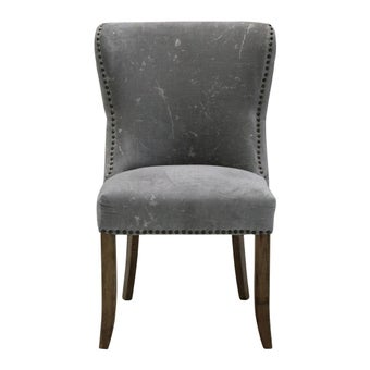 เก้าอี้ทานอาหาร เก้าอี้ไม้เบาะผ้า รุ่น Bunchy สีสีเทา-SB Design Square