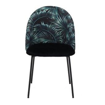 เก้าอี้ทานอาหาร เก้าอี้ไม้เบาะผ้า รุ่น Yobiko สีสีดำ-SB Design Square