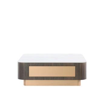 โต๊ะกลาง โต๊ะกลางขาไม้ท๊อปเซรามิค รุ่น Loretta สีสีขาว-SB Design Square