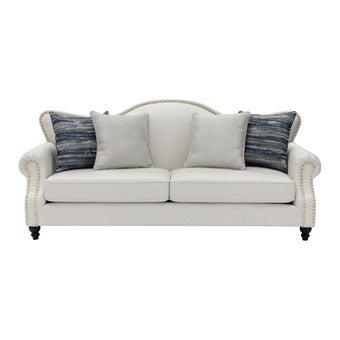 โซฟาผ้า โซฟา 3 ที่นั่ง รุ่น Hemesia สีสีครีม-SB Design Square