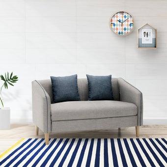 โซฟาผ้า โซฟา 2 ที่นั่ง รุ่น Crech สีสีเทา-SB Design Square