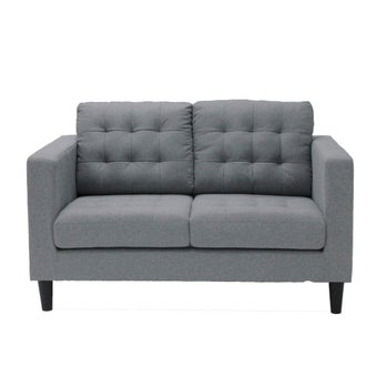 โซฟาผ้า 2 ที่นั่ง Locy#2 สีเทา-01