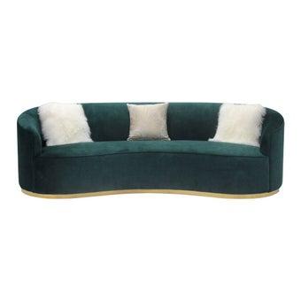 โซฟาผ้า โซฟา 3 ที่นั่ง รุ่น February สีสีเขียว-SB Design Square