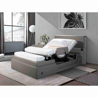 เตียงปรับระดับไฟฟ้า Power Lift Bed รุ่น PLB-01 ขนาด 3.5 ฟุต พร้อมที่นอนและชุดเครื่องนอนกันไรฝุ่นครบเซ็ท เตียงไฟฟ้า เตียงปรับระดับ เตียงปรับหมุนได้ แบรนด์ SB FURNITURE