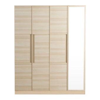 ชุดห้องนอน ตู้เสื้อผ้าบานเปิด รุ่น Hakone สีสีโอ๊คอ่อน-SB Design Square