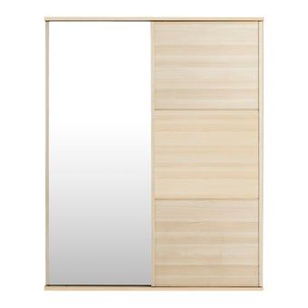 ชุดห้องนอน ตู้เสื้อผ้าบานเลื่อน รุ่น Hakone สีสีโอ๊คอ่อน-SB Design Square