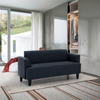 โซฟาผ้า โซฟา 2 ที่นั่ง รุ่น Gibbon สีสีเทา-SB Design Square
