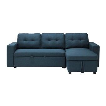 โซฟาผ้า โซฟาเข้ามุมขวา รุ่น Sonya สีสีฟ้า-SB Design Square