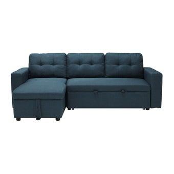 โซฟาผ้า โซฟาเข้ามุมซ้าย รุ่น Sonya สีสีฟ้า-SB Design Square