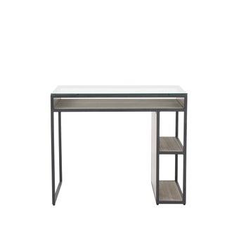 โต๊ะทานอาหาร โต๊ะอาหารขาไม้ท๊อปกระจก รุ่น Nardeen-SB Design Square