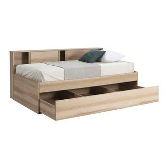 เตียงนอน ขนาด 3.5 ฟุต รุ่น Log สีโอ๊ค-04