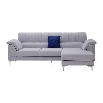 โซฟาผ้า โซฟาเข้ามุมสลับด้านได้ซ้าย/ขวา รุ่น Xabet สีสีม่วง-SB Design Square