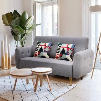 โซฟาผ้า โซฟา 2 ที่นั่ง รุ่น Canit สีสีเทา-SB Design Square