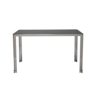 โต๊ะอาหารSQUAT120/สแตนเลส/TOPกระจก-01