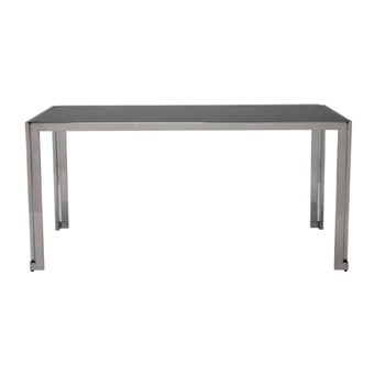 โต๊ะทานอาหาร โต๊ะอาหารขาเหล็กท๊อปกระจก รุ่น Squat-SB Design Square