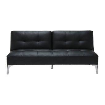 โซฟาหนังสังเคราะห์ โซฟาเบด รุ่น Chaaim สีสีดำ-SB Design Square
