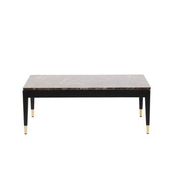 โต๊ะกลาง โต๊ะกลางไม้ท๊อปหิน รุ่น Michala สีสีเข้มลายไม้ธรรมชาติ-SB Design Square