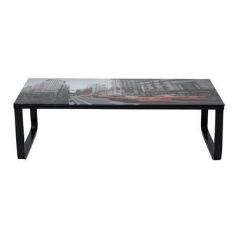 โต๊ะกลาง โต๊ะกลางเหล็กท๊อปกระจก รุ่น Lavis สีสีดำ-SB Design Square