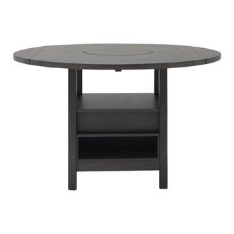 โต๊ะทานอาหาร โต๊ะบาร์ขาเหล็กท๊อปไม้ รุ่น Sindy สีสีเทา-SB Design Square