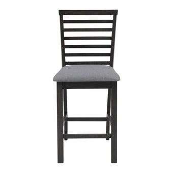 เก้าอี้ทานอาหาร เก้าอี้สตูลบาร์ไม้เบาะผ้า รุ่น Sindy สีสีเทา-SB Design Square