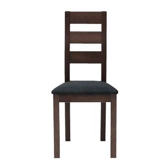 เก้าอี้ทานอาหาร เก้าอี้ไม้เบาะผ้า รุ่น Everly สีสีน้ำตาล-SB Design Square