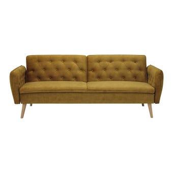 โซฟาผ้า โซฟาเบด รุ่น Cotin สีสีเหลือง-SB Design Square
