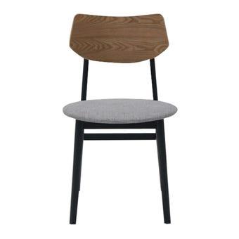 เก้าอี้ทานอาหาร เก้าอี้ไม้เบาะผ้า รุ่น M-Pazo สีสีเทา-SB Design Square