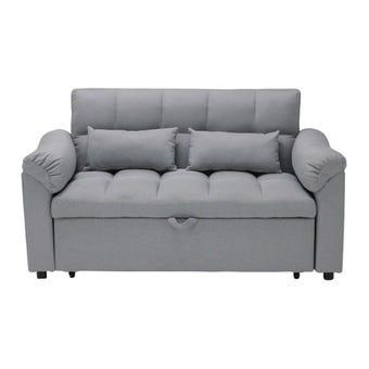 โซฟาผ้า โซฟาเบด รุ่น Flero สีสีเทา-SB Design Square