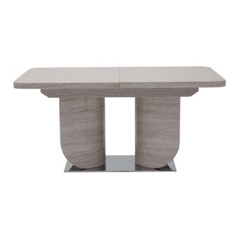 โต๊ะทานอาหาร โต๊ะอาหารขาเหล็กท๊อปกระจก รุ่น Pascal สีสีครีม-SB Design Square