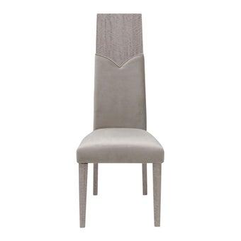 เก้าอี้ทานอาหาร เก้าอี้เหล็กเบาะผ้า รุ่น Pascal สีสีน้ำตาล-SB Design Square