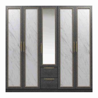 ชุดห้องนอน ตู้เสื้อผ้าบานเปิด รุ่น Bibury-SB Design Square