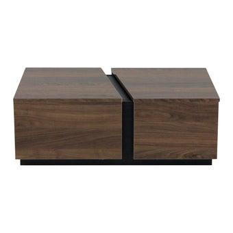 โต๊ะกลาง โต๊ะกลางไม้ล้วน รุ่น Iowa สีสีลายไม้ธรรมชาติ-SB Design Square