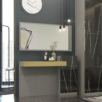 โต๊ะเครื่องแป้ง ขนาด 120 ซม. รุ่น Luxus สีเทา 04