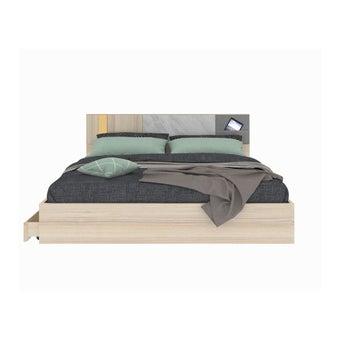 ชุดห้องนอน เตียง รุ่น Marmurus สีสีโอ๊คอ่อน-SB Design Square