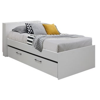 เตียงนอน ขนาด 3.5 ฟุต รุ่น Studeo สีขาว-01