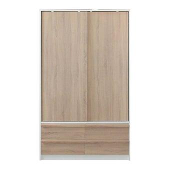 ชุดห้องนอน ตู้เสื้อผ้าบานเลื่อน รุ่น Hanz สีสีขาว-SB Design Square