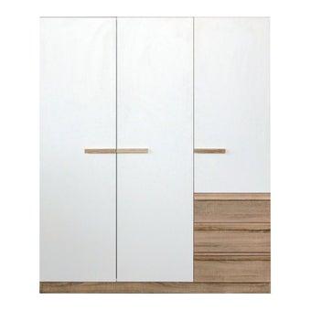 ชุดห้องนอน ตู้เสื้อผ้าบานเปิด รุ่น Hanz สีสีโอ๊ค-SB Design Square