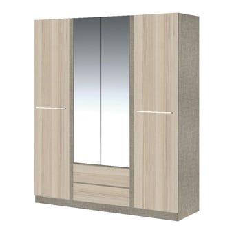 ชุดห้องนอน ตู้เสื้อผ้าบานเปิด รุ่น Ricchi สีสีอ่อน-SB Design Square