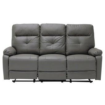 เก้าอี้พักผ่อนหนังแท้ 2 ที่นั่ง รุ่น Zpell สีเทา-00