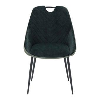เก้าอี้ทานอาหาร เก้าอี้เหล็กเบาะผ้า รุ่น Yoope สีสีเขียว-SB Design Square