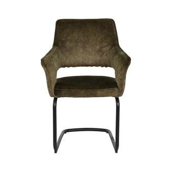 เก้าอี้ทานอาหาร เก้าอี้เหล็กเบาะผ้า รุ่น Youtube สีสีเขียว-SB Design Square