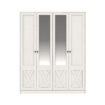 ตู้เสื้อผ้าบานเปิด 4 บานประตู รุ่น Marietta - สีขาว-01