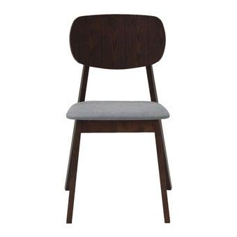 เก้าอี้ทานอาหาร เก้าอี้ไม้เบาะผ้า รุ่น Tatoro สีสีลายไม้ธรรมชาติ-SB Design Square